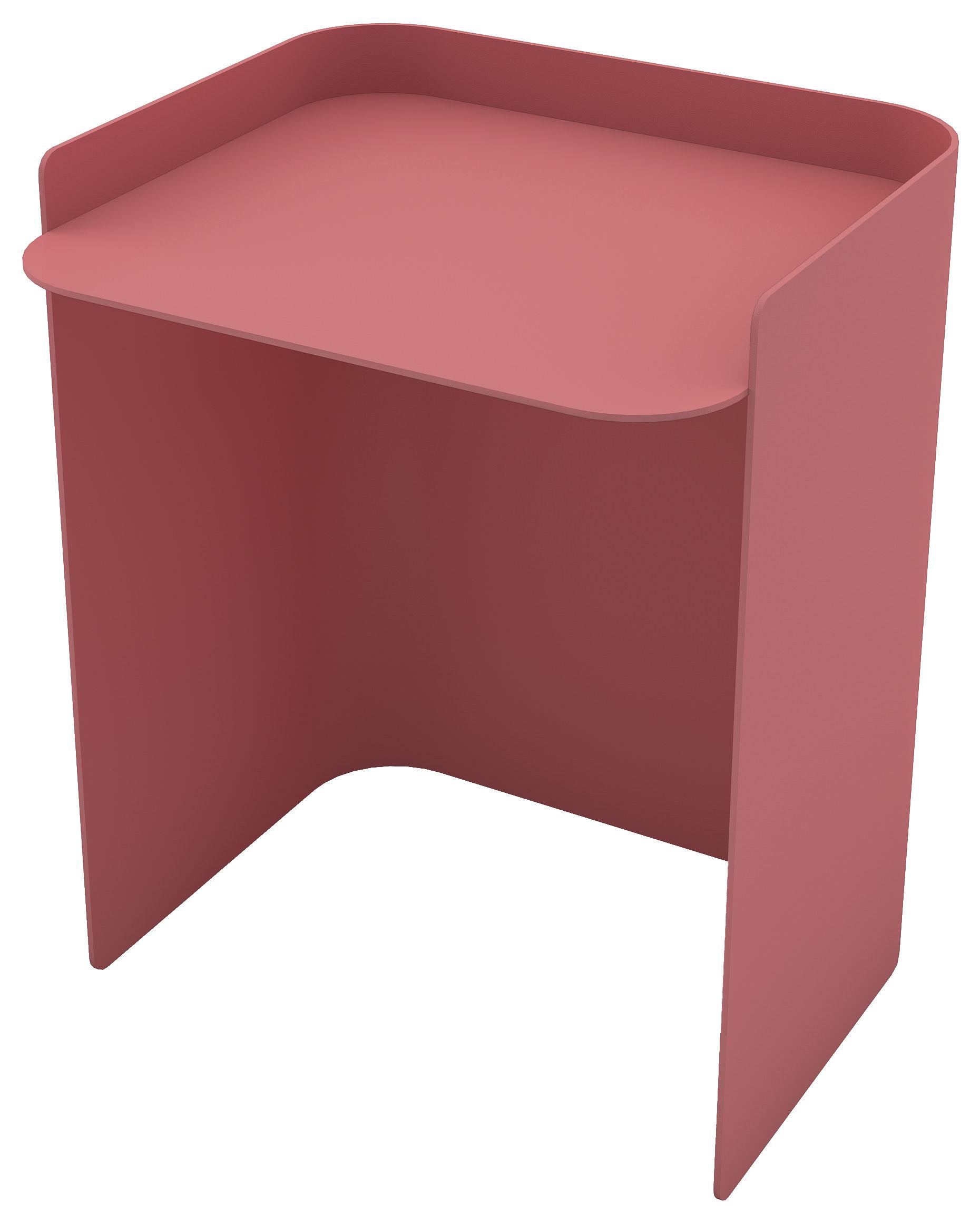 Möbel - Couchtische - Flor Beistelltisch / Medium - H 42 cm - Matière Grise - Altrosa - bemalter Stahl