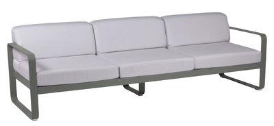Canapé droit Bellevie 3 places L 235 cm Tissu blanc Fermob blanc grisé,romarin en métal