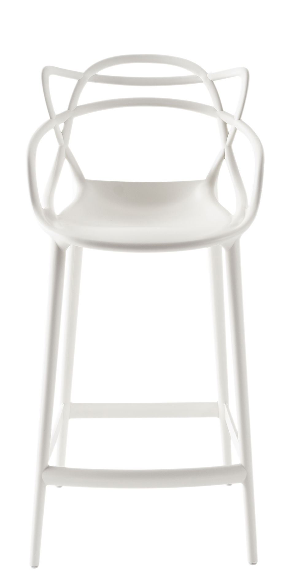 Chaise De Bar Masters Kartell Blanc L 50 X H 99 Made In Design