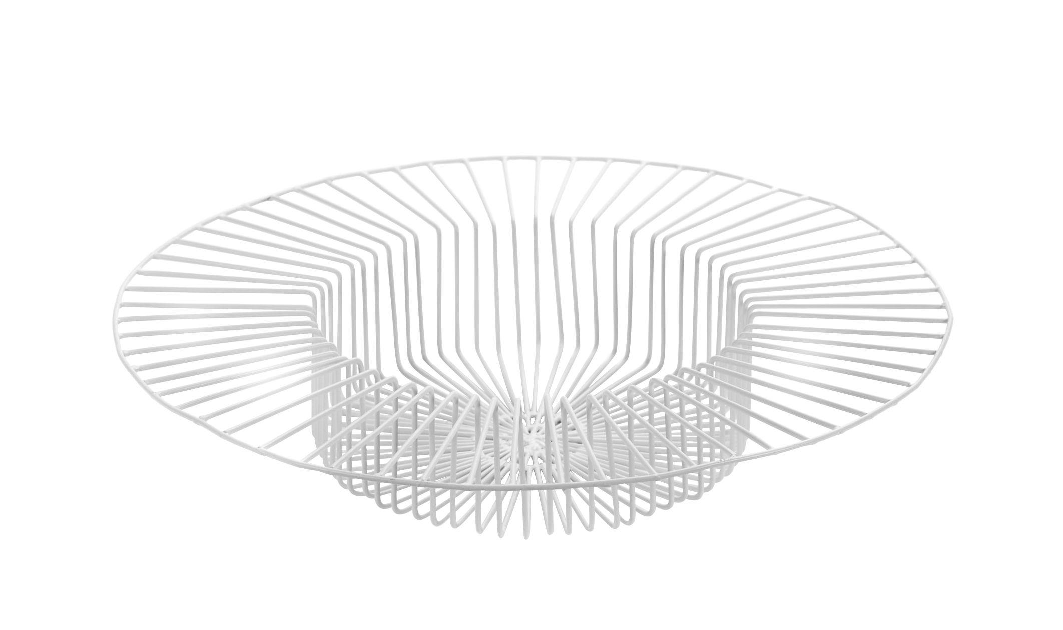 Déco - Corbeilles, centres de table, vide-poches - Corbeille Paglieta / Ø 45 x H 8 cm - Serax - Blanc - Fil de fer laqué