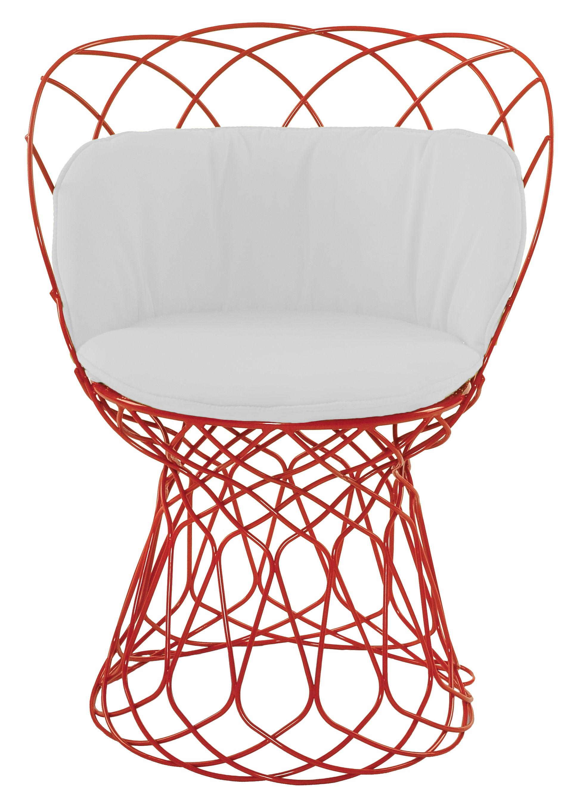 Déco - Coussins - Coussin d'assise / Pour fauteuils Re-trouvé - Emu - Blanc uni - Tissu