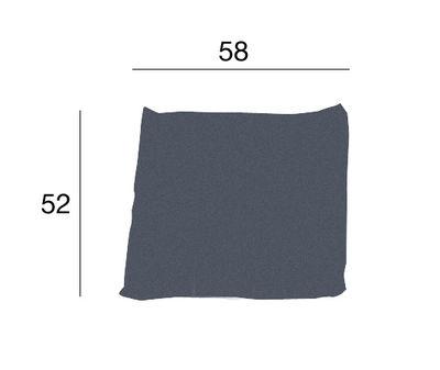 Coussin Kilt tissu - Zanotta gris en tissu