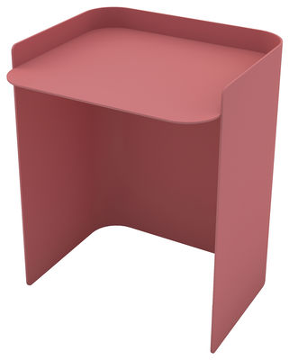Furniture - Coffee Tables - Flor End table - / Medium - H 42,5 cm by Matière Grise - Old Pink - Painted steel