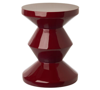 Furniture - Coffee Tables - Zig Zag End table - Plastic by Pols Potten - Bordeaux - Lacquered polyester