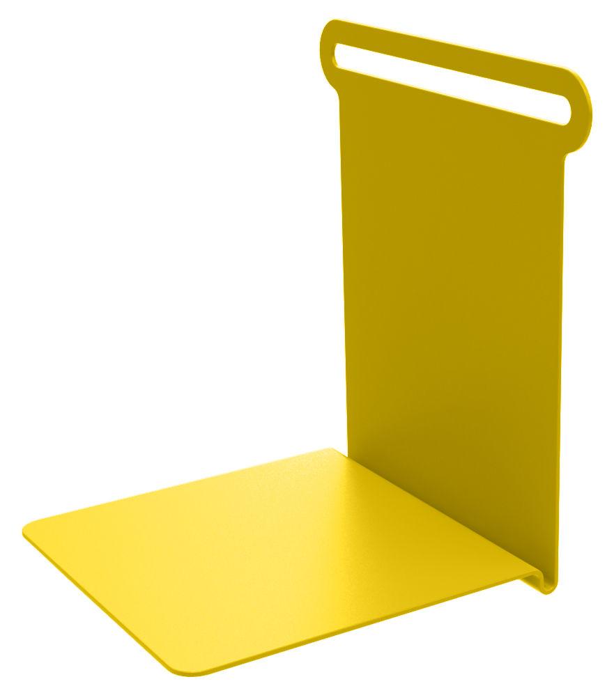 Mobilier - Etagères & bibliothèques - Etagère Knick / Range-livres - L 15 cm - Matière Grise - Jaune - Métal