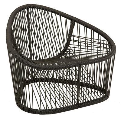 Jardin matières UK - Weaving UK - Fauteuil Club - Zanotta - Marron - Acier verni, PVC