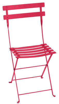 Furniture - Chairs - Bistro Folding chair - / metal by Fermob - Praline pink - Lacquered steel