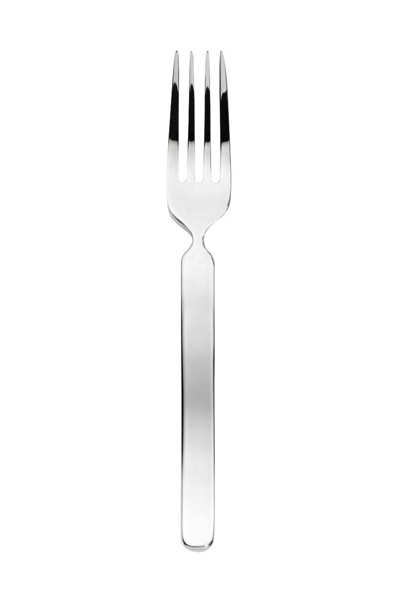 Arts de la table - Couverts de service - Fourchette à salade Cinque Stelle - Serafino Zani - Inox poli - Acier inoxydable poli