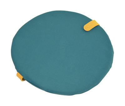 Galette de chaise Color Mix / Ø 40 cm - Fermob miel,bleu goa en tissu