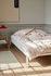Lampe de table Matin Small / LED - H 38 cm - Tissu & métal - Hay