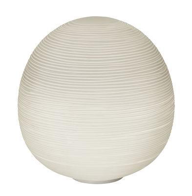 Lampe de table Rituals XL / Ø 40 x H 41 cm - Foscarini blanc en verre