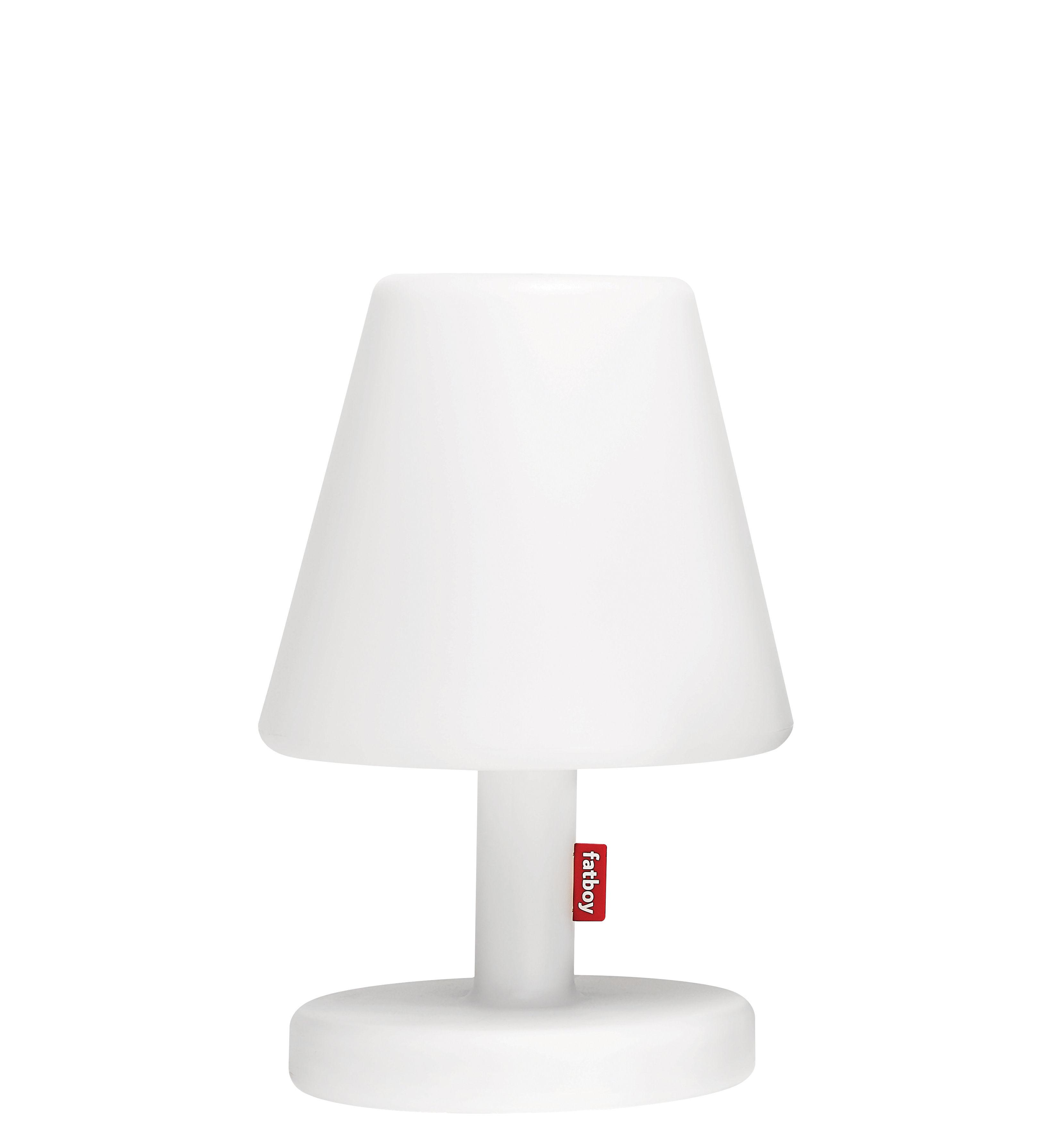 Leuchten - Tischleuchten - Edison the Medium Bluetooth Lampe / H 51 cm - LED - Fatboy - Weiß / Bluetooth - Polyäthylen