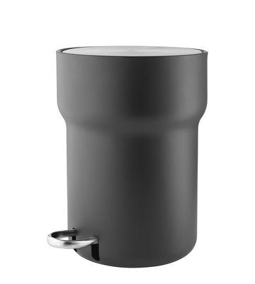 Accessoires - Accessoires salle de bains - Poubelle à pédale / 5 L - Acier - Eva Solo - Noir & acier - Acier inoxydable poudré