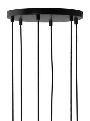 Rosace multiple 6 trous / Pour 6 suspensions - Frandsen noir en métal