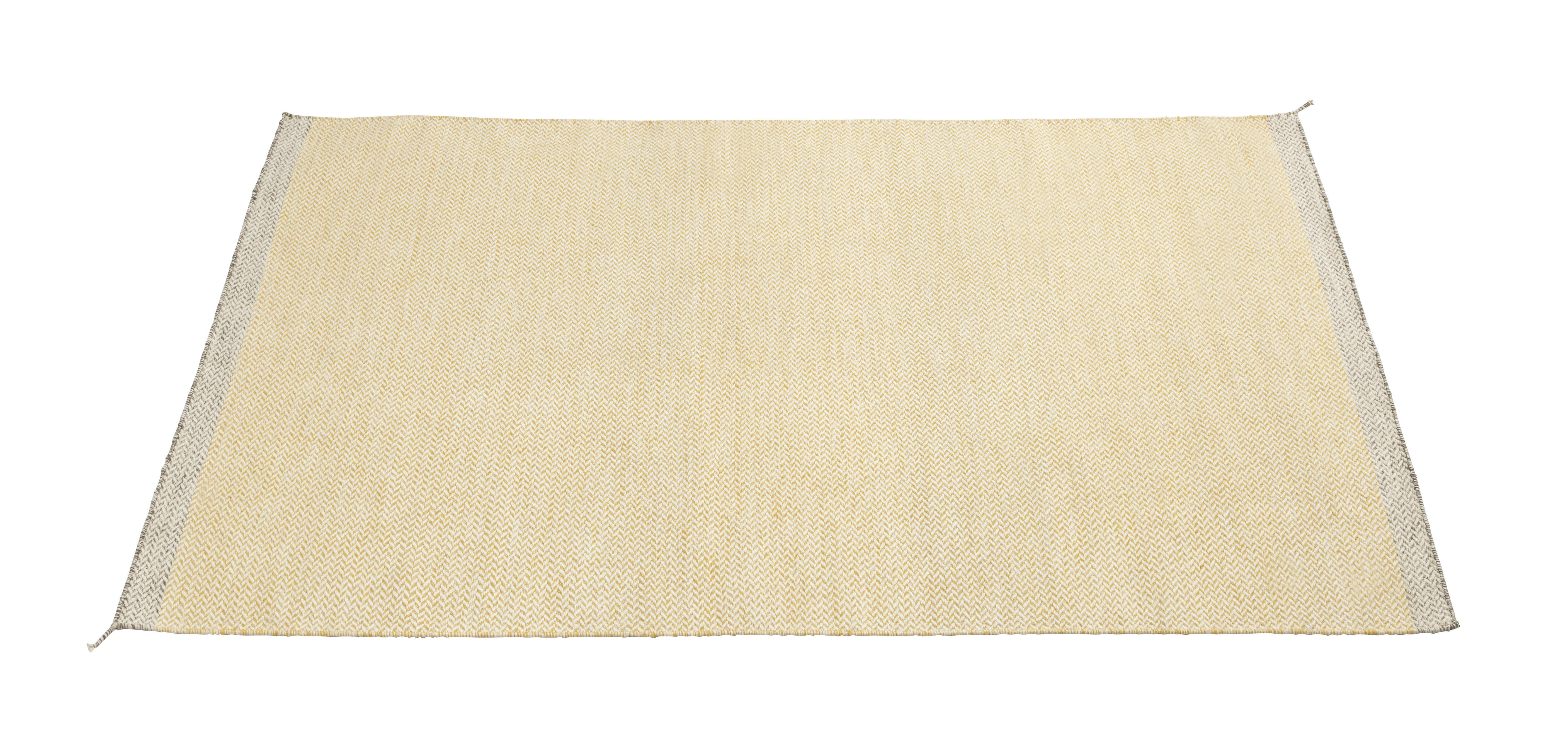 Decoration - Rugs - PLY Rug - 174 x 240 cm by Muuto - Yellow - Wool