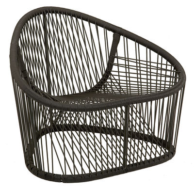 Jardin matières UK - Weaving UK - Club Sessel - Zanotta - Braun - gefirnister Stahl, PVC