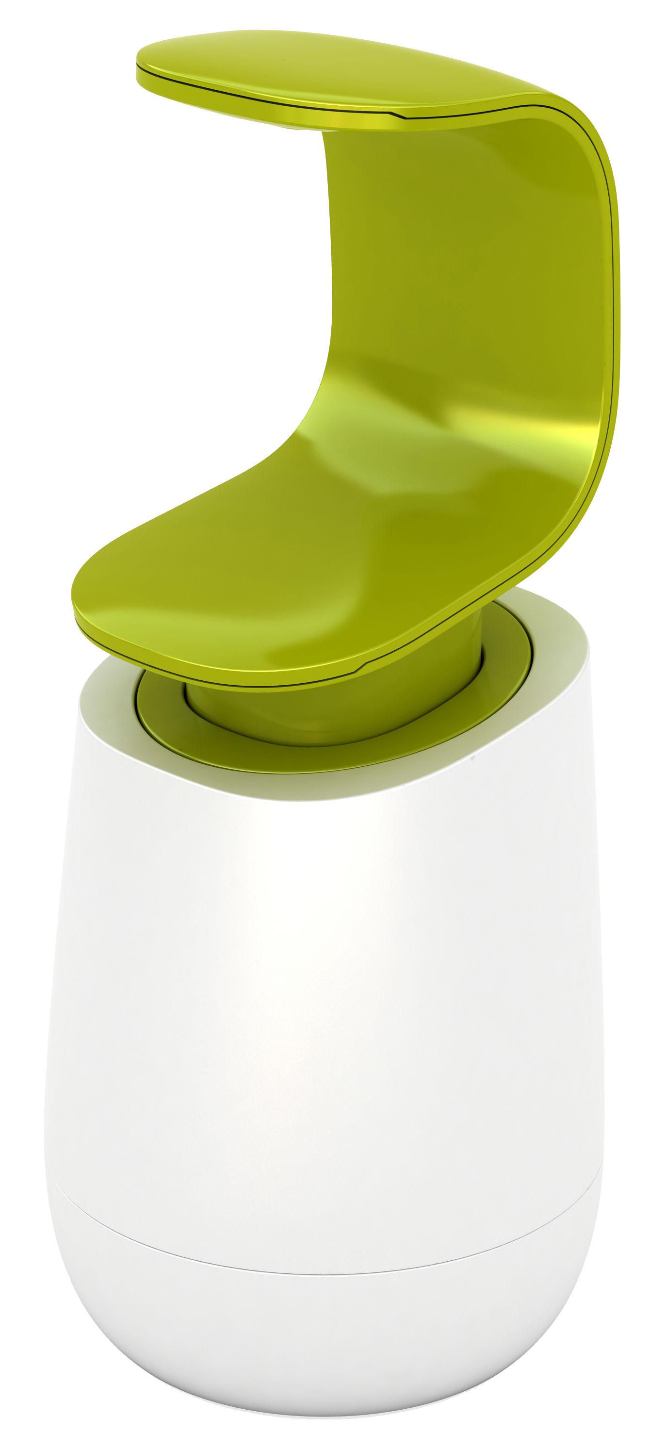 Accessories - Bathroom Accessories - C-Pump Soap dispenser by Joseph Joseph - White - Green - ABS