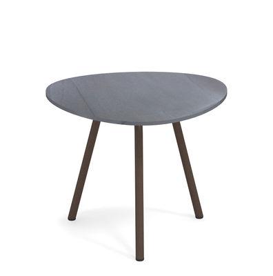 Table basse Terramare Grès effet marbre 48 x 48 cm Emu brun,marron d'inde en céramique