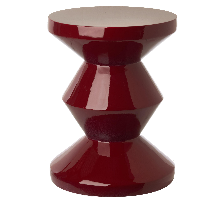 Mobilier - Tables basses - Table d'appoint Zig Zag / Plastique - Pols Potten - Bordeaux - Polyester laqué
