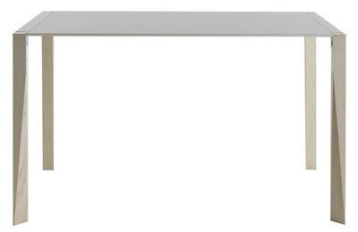 Table Tango / 90 x 125 cm - Plateau Fenix-NTM® - Horm blanc,frêne blanchi en matière plastique