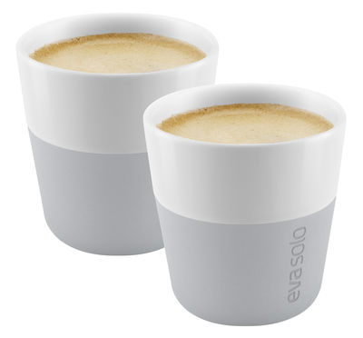 Tasse à espresso / Set de 2 - 80 ml - Eva Solo gris marbre en céramique