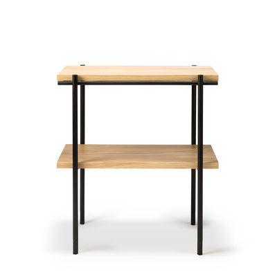 Arredamento - Tavolini  - Tavolino d'appoggio Rise - / Rovere massello & metallo - 50 x 30 cm di Ethnicraft - Rovere & nero - metallo verniciato, Rovere massello