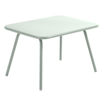 Arredamento - Tavolini  - Tavolino Luxembourg Kid - / 75 x 55 cm - Metallo di Fermob - Menta glaciale - Acciaio laccato