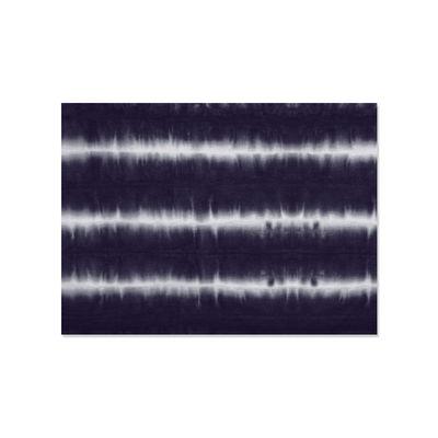 Tischkultur - Tischdecken und -servietten - Rhodes Tisch-Set / Vinyl - 33 x 45 cm - PÔDEVACHE - Tie & Dye / Blau - Vinyl