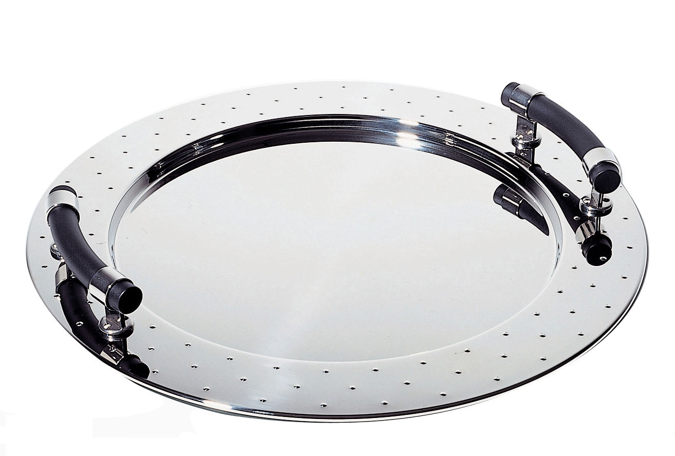 Tableware - Trays - Graves Tray by Alessi - Mirror polished - Polyamide, Stainless steel