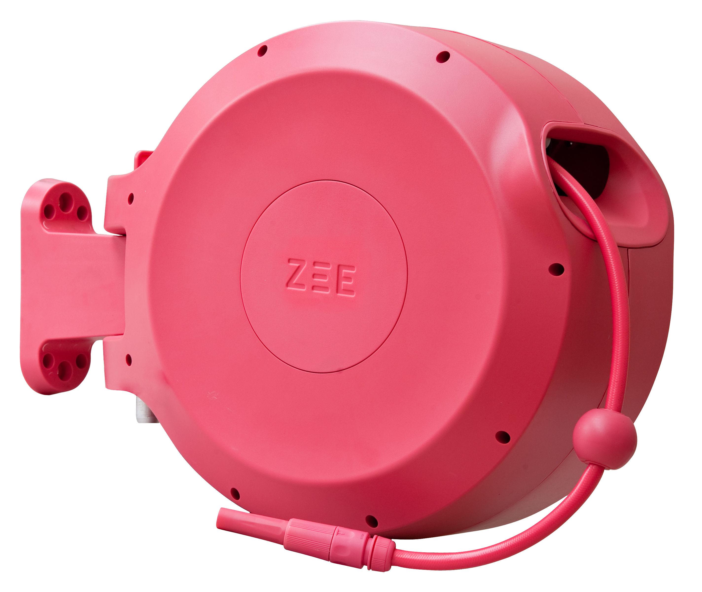 Outdoor - Pots et plantes - Tuyau d'arrosage Mirtoon 30m / Enrouleur automatique - Pistolet offert - Zee - Rose - ABS, PVC