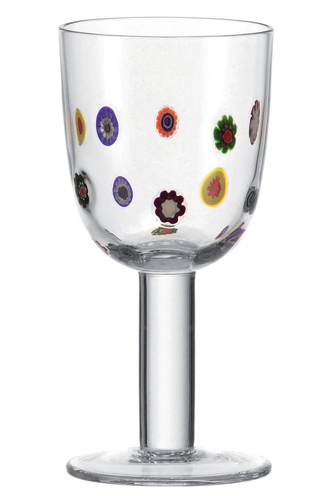 Arts de la table - Verres  - Verre à vin Millefiori - Leonardo - Motif floral - Verre