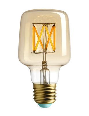 Ampoule LED filaments E27 Wilbur / 4.5W (29W) - 315 Lumen - Plumen doré en verre
