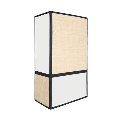 Applique Céleste / H 36 cm - Non électrifiée - Maison Sarah Lavoine blanc/beige en tissu/fibre végétale