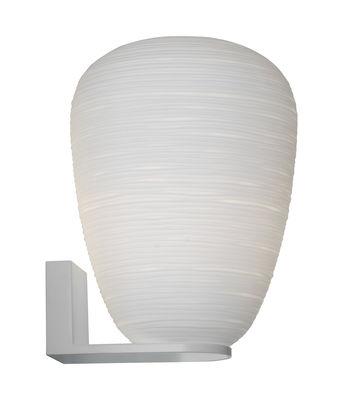 Luminaire - Appliques - Applique Rituals 1 / Verre - Ø 24 x H 34 cm - Foscarini - H 34 cm / Blanc - Métal laqué, Verre soufflé bouche