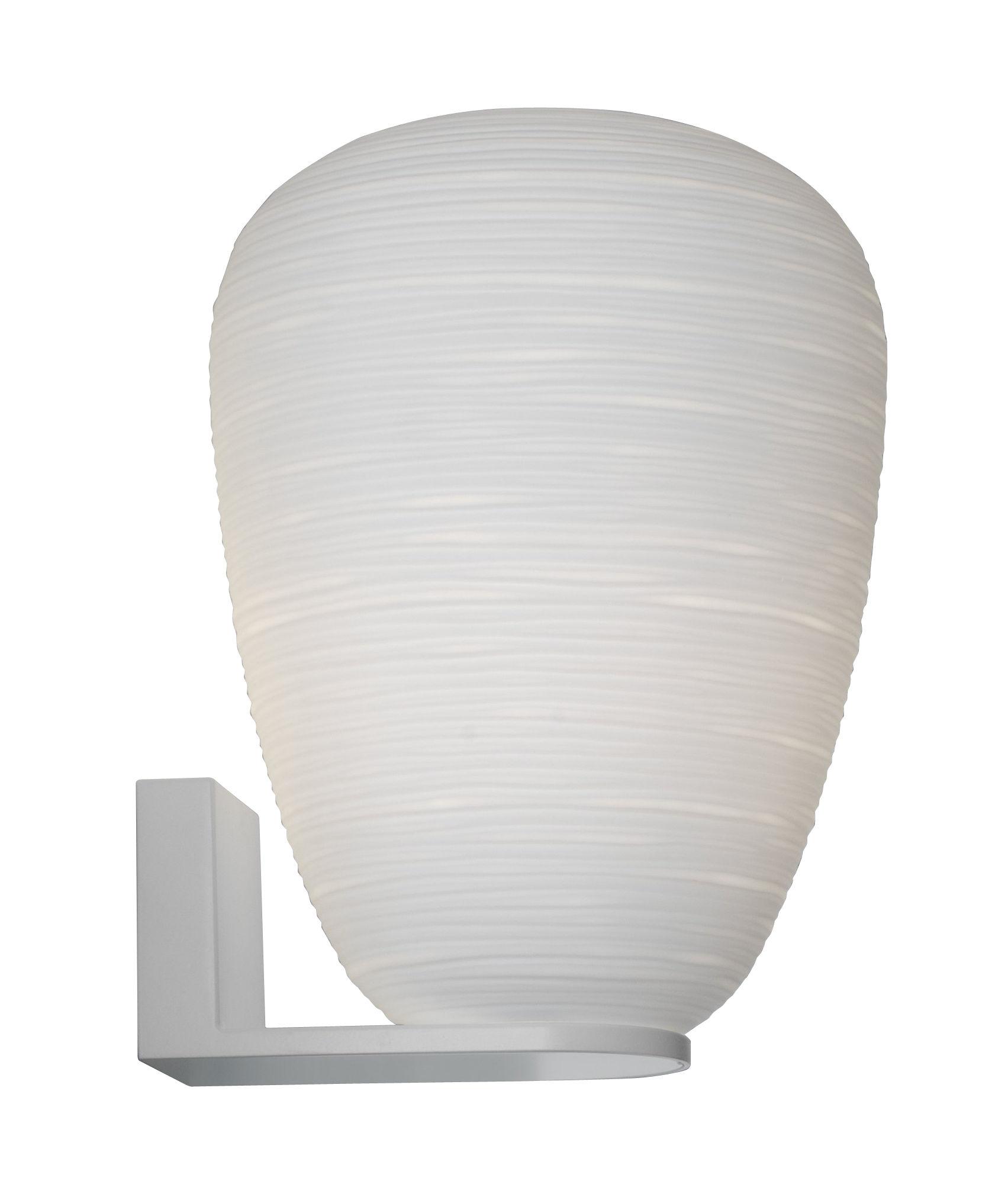 Luminaire - Appliques - Applique Rituals 1 / Ø 24 x H 34 cm - Foscarini - H 34 cm / Blanc - Métal laqué, Verre soufflé bouche