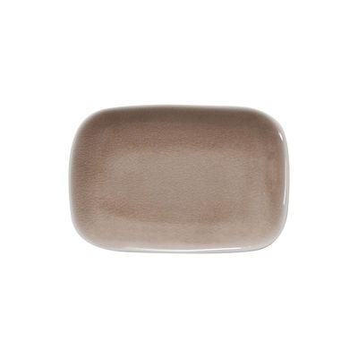 Arts de la table - Assiettes - Assiette à dessert Maguelone / 14 x 20 cm - Grès fait main - Jars Céramistes - Tamaris - Grès émaillé