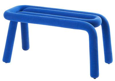 Mobilier - Bancs - Banc Bold / L 100 cm - Moustache - Bleu - Acier, Mousse, Tissu