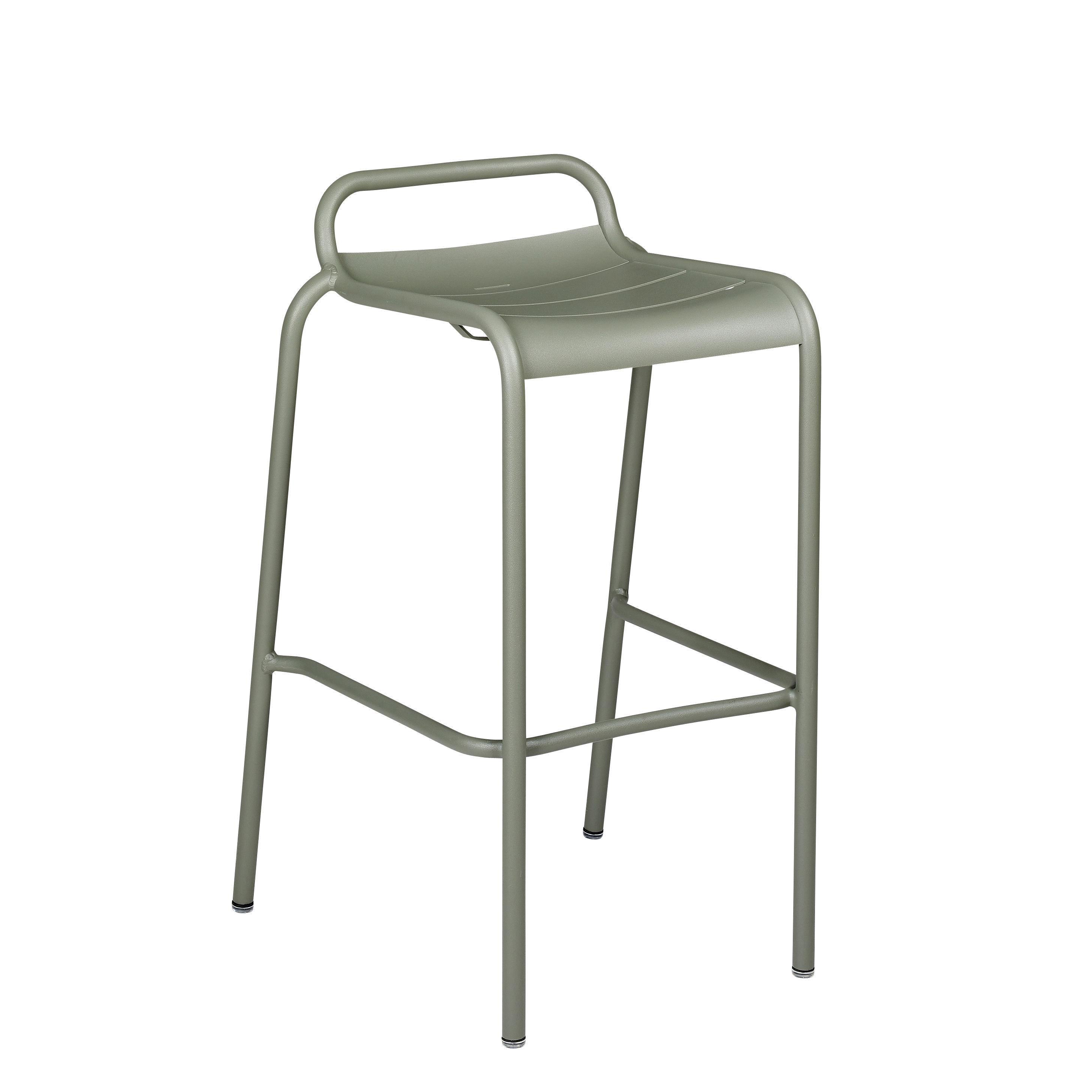 Möbel - Barhocker - Luxembourg Barhocker / Aluminium - H 78 cm - Fermob - Kaktus - bemaltes Aluminium
