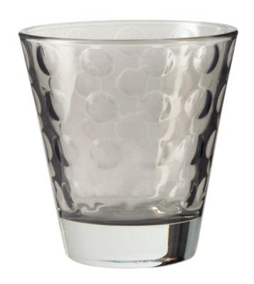 Image of Bicchiere da whisky Optic / H 9 x Ø 8,5 cm - 22 cl - Leonardo - Grigio basalto - Vetro