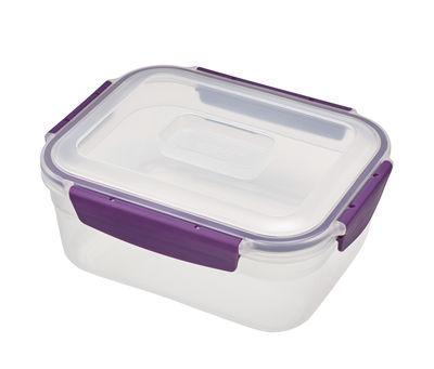 Lot de 9 SUNPET carré 150 ml Rouge Top Plastique Stockage Des Aliments Boîtes Bocal