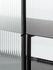 Buffet Haze - / L 110 x H 90 cm / 2 porte Vetro scanalato di Ferm Living