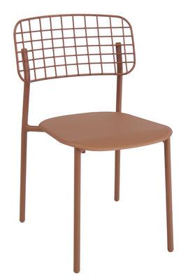 Chaise empilable Lyze / Métal - Emu cuivre en métal