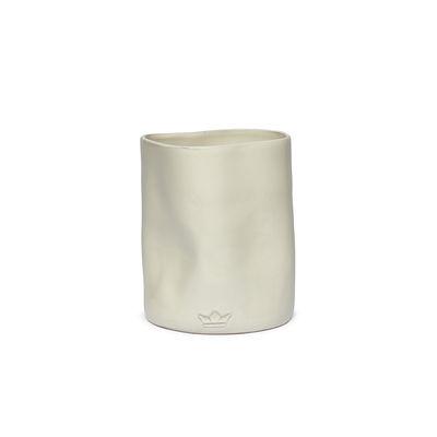 Image of Contenitore per utensili Bosselé - / Vaso - Ø 14,5 x 19 cm - Ceramica di Dutchdeluxes - Bianco - Ceramica