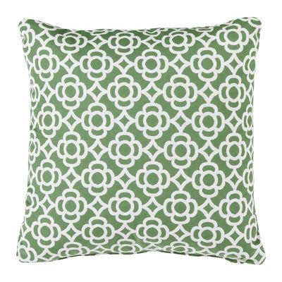 Coussin d'extérieur Lorette / 44 x 44 cm - Fermob vert en tissu