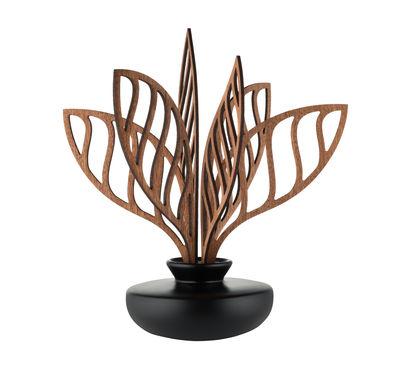 Diffuseur de parfum The Five Seasons / Porcelaine - H 22,5 cm - Alessi noir,bois naturel en céramique