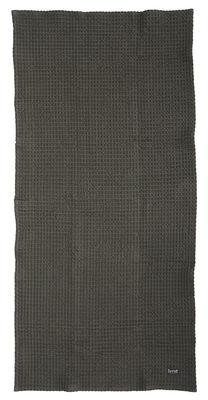 Drap de bain / 140 x 70 cm - Ferm Living gris foncé en tissu