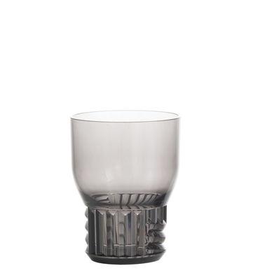 Tableware - Wine Glasses & Glassware - Trama Small Glass - / H 11 cm by Kartell - Smoked grey - Technopolymer