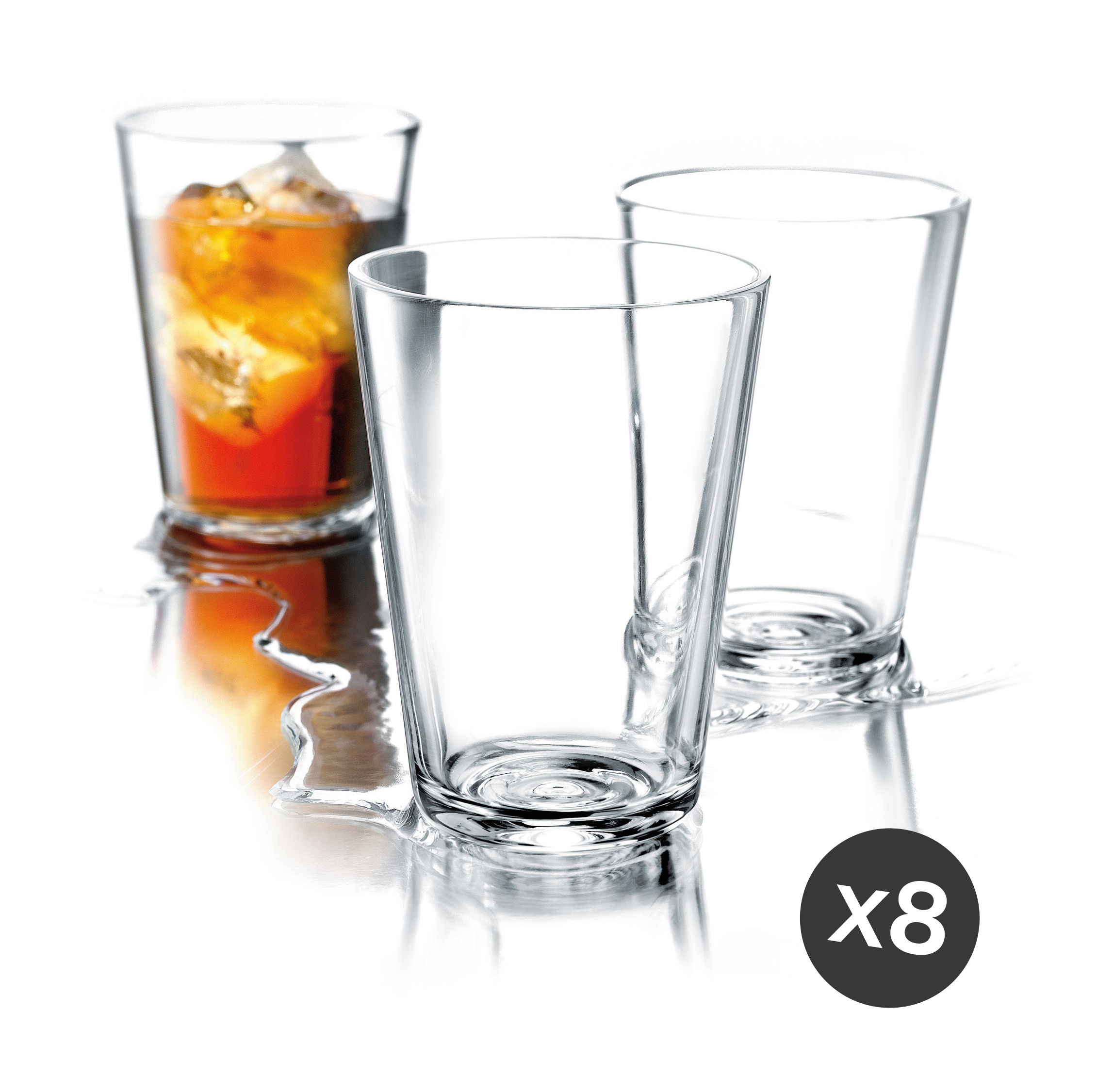 Tableware - Wine Glasses & Glassware - Glass - / Set of 8 - 38 cl by Eva Solo - Transparent - Glass