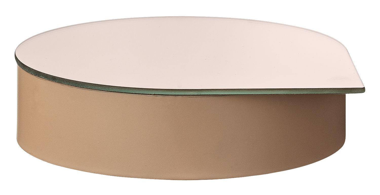 Decoration - Decorative Boxes - Gutta Jewellery box - Mirror by AYTM - Pink - Iron, Mirror, Velvet