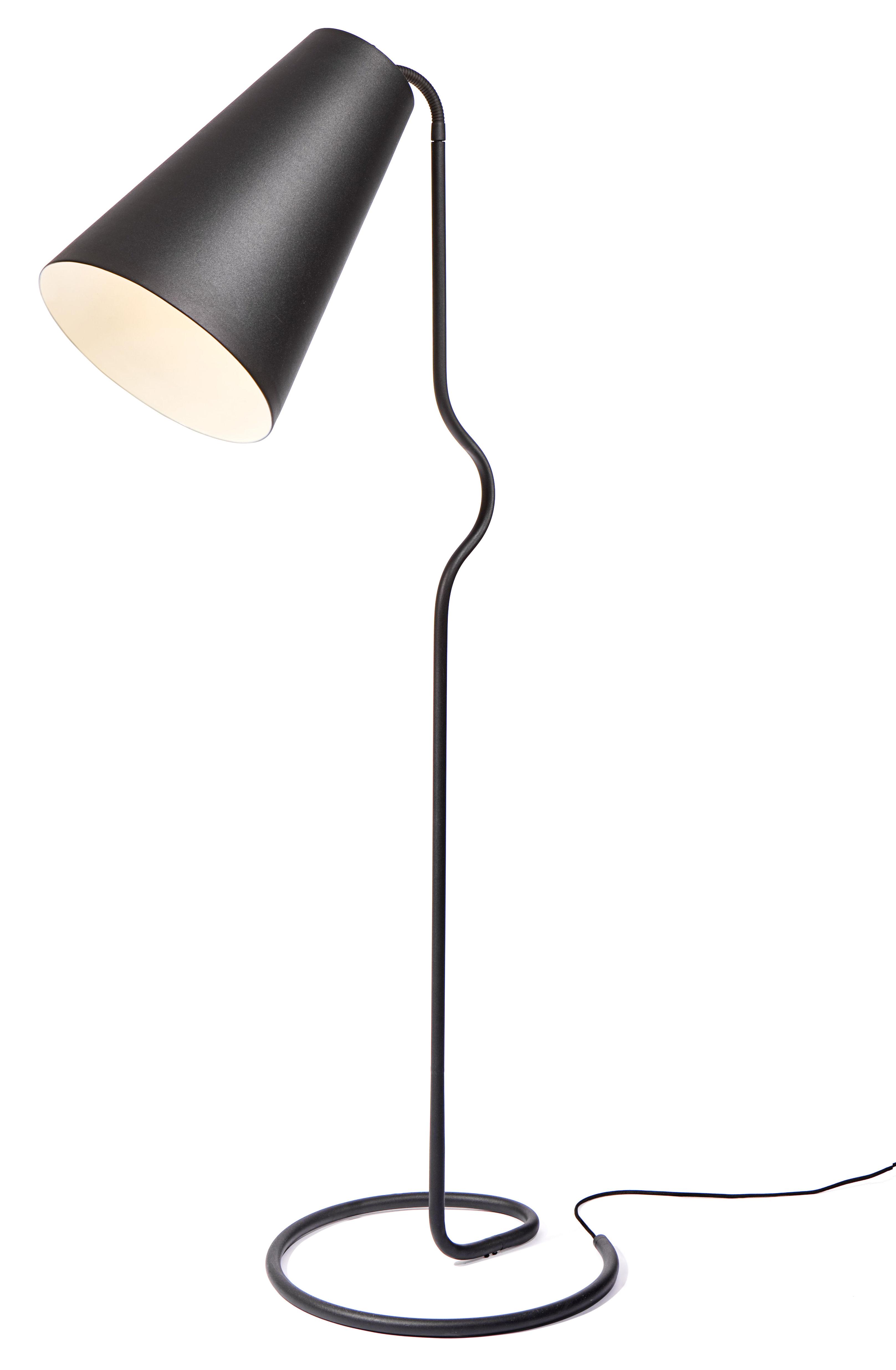 Illuminazione - Lampade da terra - Lampada a stelo Bender di Northern  - Nero - Acciaio, Alluminio